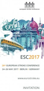 26. European Stroke Conference, Berlin, Germany 24 - 26 May 2017